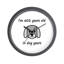 86 dog years 2 - 2 Wall Clock