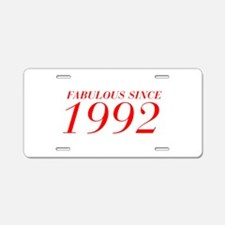 FABULOUS SINCE 1992-Bod red 300 Aluminum License P