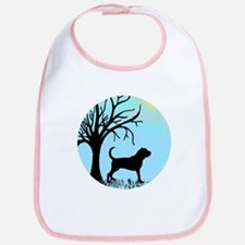 Tree & Bloodhound Dog Bib