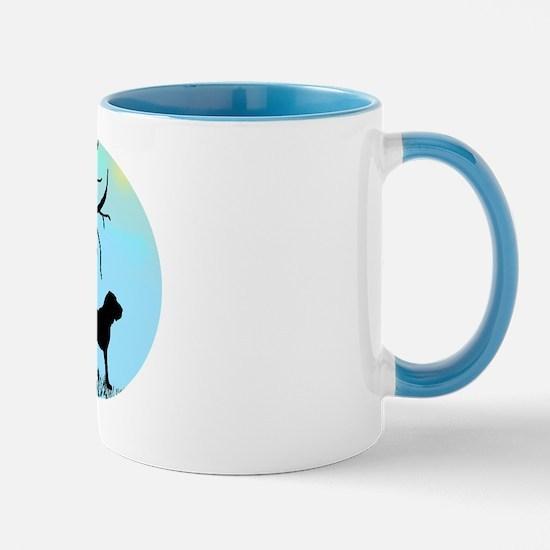 Tree & Bloodhound Dog Mug