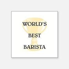 """BARISTA Square Sticker 3"""" x 3"""""""