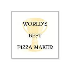 """PIZZA MAKER Square Sticker 3"""" x 3"""""""