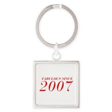 FABULOUS SINCE 2007-Bod red 300 Keychains