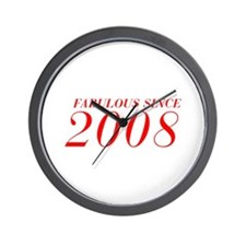 FABULOUS SINCE 2008-Bod red 300 Wall Clock