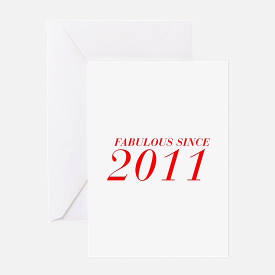 FABULOUS SINCE 2011-Bod red 300 Greeting Cards