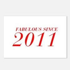 FABULOUS SINCE 2011-Bod red 300 Postcards (Package