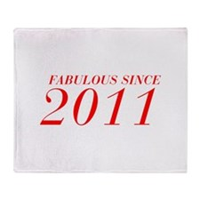 FABULOUS SINCE 2011-Bod red 300 Throw Blanket