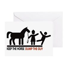 Dump the Guy Greeting Card