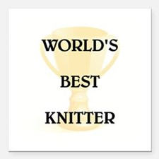 "KNITTER Square Car Magnet 3"" x 3"""