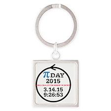 Celebrate Pi Day! Square Keychain