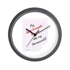 Jack Russell Homework Wall Clock