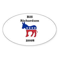 Bill Richardson Oval Decal