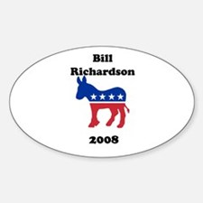 Bill Richardson Oval Decal