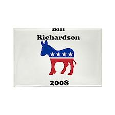 Bill Richardson Rectangle Magnet