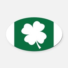 St Patricks Day Shamrock Oval Car Magnet