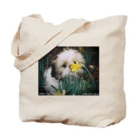 Shih Tzu Puppy Lover,Tote Bag, elpace collection