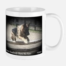 German Shepherds Show No Fear, Mug