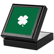 St Patricks Day Shamrock Keepsake Box