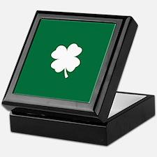 St Patricks Day Shamrock Keepsake Box