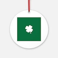 St Patricks Day Shamrock Ornament (Round)