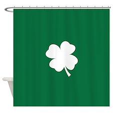 St Patricks Day Shamrock Shower Curtain