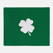 St Patricks Day Shamrock Throw Blanket