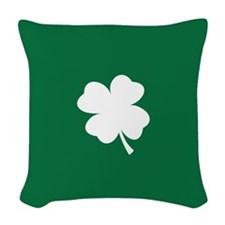 St Patricks Day Shamrock Woven Throw Pillow
