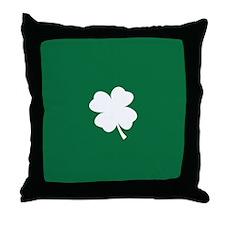 St Patricks Day Shamrock Throw Pillow