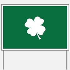 St Patricks Day Shamrock Yard Sign