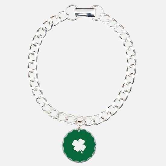 St Patricks Day Shamrock Bracelet