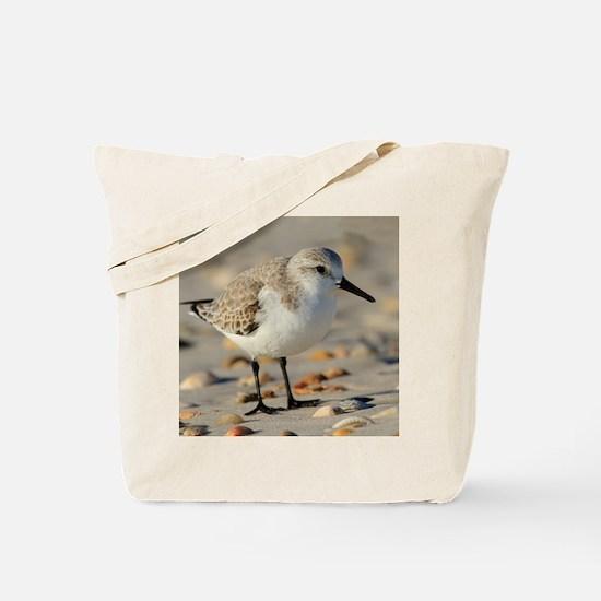 Sand Piper and Seashells Tote Bag