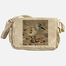 Sand Piper and Seashells Messenger Bag