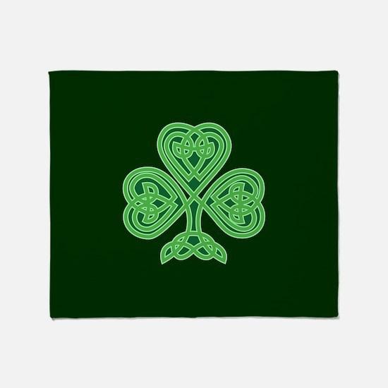 Celtic Shamrock - St Patricks Day Throw Blanket