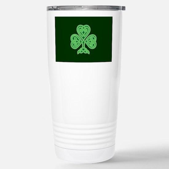 Celtic Shamrock - St Pa Stainless Steel Travel Mug