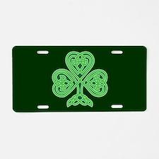 Celtic Shamrock - St Patric Aluminum License Plate