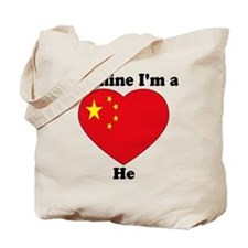 He, Valentine's Day Tote Bag