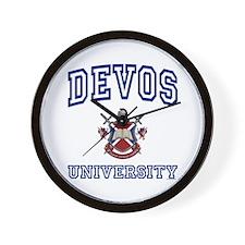 DEVOS University Wall Clock