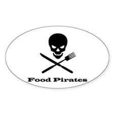 Food Pirate Oval Decal