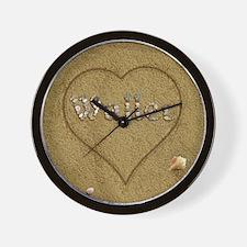 Waller Beach Love Wall Clock