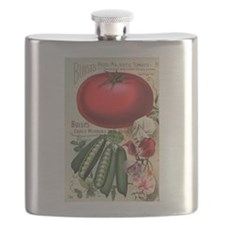 Majestic Tomato and Morning Star Peas Flask