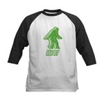 Bigfoot Silhouette Kids Baseball Jersey - Own a piece of this cryptid mystery, own your Big Foot T-shirt and other cool Big Foot gift items today! 30-day satisfaction & money back guarantee! - Availble Sizes:S (6-8),M (10-12),L (14-16) - Availble Colors: Black/White,Red/White,Navy/White