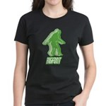 Bigfoot Silhouette Women's Dark T-Shirt - Own a piece of this cryptid mystery, own your Big Foot T-shirt and other cool Big Foot gift items today! 30-day satisfaction & money back guarantee! - Availble Sizes:Small,Medium,Large,X-Large,2X-Large (+$3.00) - Availble Colors: Black,Red,Caribbean Blue,Pink,Charcoal Heather,Kelly,Navy