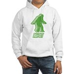 Bigfoot Silhouette Hooded Sweatshirt - Own a piece of this cryptid mystery, own your Big Foot T-shirt and other cool Big Foot gift items today! 30-day satisfaction & money back guarantee! - Availble Sizes:Small,Medium,Large,X-Large,2X-Large (+$3.00) - Availble Colors: White,Heather Grey