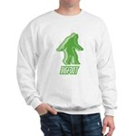 Bigfoot Silhouette Sweatshirt - Own a piece of this cryptid mystery, own your Big Foot T-shirt and other cool Big Foot gift items today! 30-day satisfaction & money back guarantee! - Availble Sizes:Small,Medium,Large,X-Large,2X-Large (+$3.00) - Availble Colors: White,Ash Grey