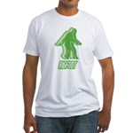 Bigfoot Silhouette Fitted T-Shirt - Own a piece of this cryptid mystery, own your Big Foot T-shirt and other cool Big Foot gift items today! 30-day satisfaction & money back guarantee! - Availble Sizes:Small,Medium,Large,X-Large,2X-Large (+$3.00) - Availble Colors: White,Natural,Pink,Baby Blue,Sunshine