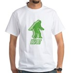 Bigfoot Silhouette White T-Shirt - Own a piece of this cryptid mystery, own your Big Foot T-shirt and other cool Big Foot gift items today! 30-day satisfaction & money back guarantee! - Availble Sizes:Small,Medium,Large,X-Large,X-Large Tall (+$3.00),2X-Large (+$3.00),2X-Large Tall (+$3.00),3X-Large (+$3.00),3X-Large Tall (+$3.00),4X-Large (+$3.00) - Availble Colors: White