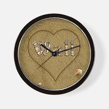 Wall Beach Love Wall Clock