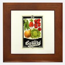 Carters Vegetable Seeds Framed Tile