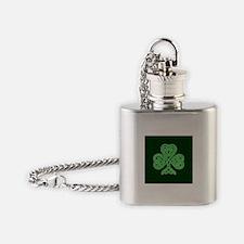 Celtic Shamrock - St Patricks Day Flask Necklace