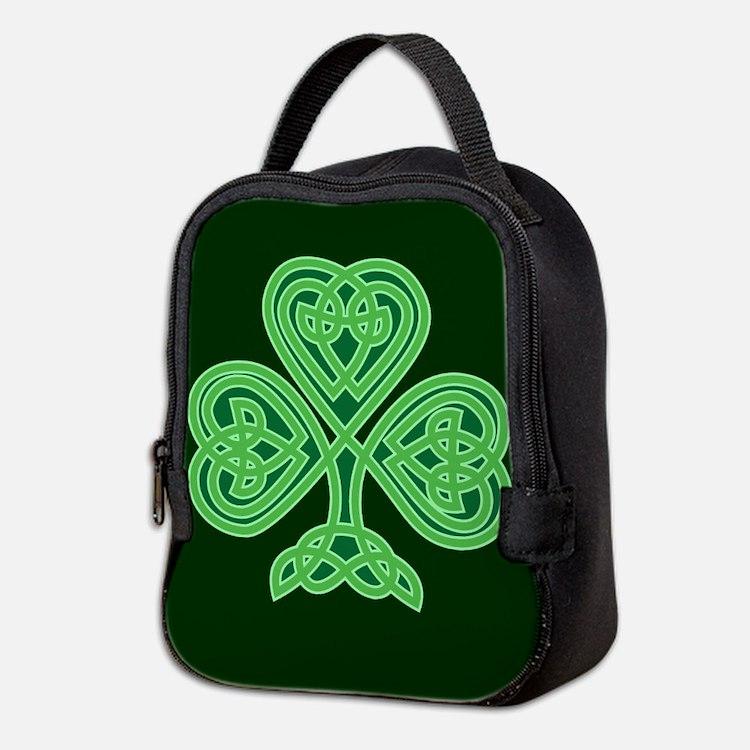 Celtic Shamrock - St Patricks D Neoprene Lunch Bag